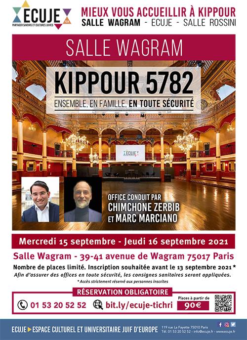 Plaquette Kippour à Wagram avec l'ECUJE